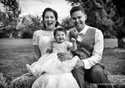 Wedding day family portraits
