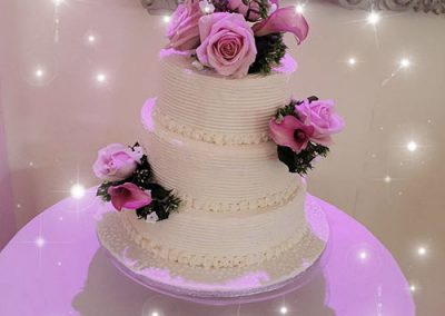 3-Tier-Wedding-Cake-With-Flower-Decorations
