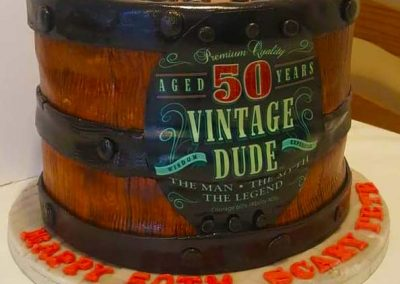 Novelty Beer Barrel 50th Birthday Cake